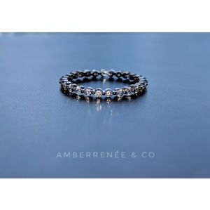 AmberRenée & Co Jewelry - 14k 2mm Floating Distance Band WHITE GOLD